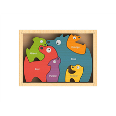 Dog Family Bilingual Puzzle (English-Spanish)