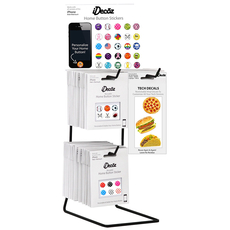 3 - Peg Metal Countertop Display with Header Card (Holds up to 65pcs)