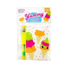 Yummy Sketch Sniff Note Pad & pen Rainbow Sherbet
