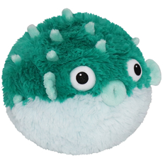 Mini Squishable Teal Pufferfish