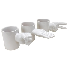 Rock Paper Scissors 3pc Mug Set