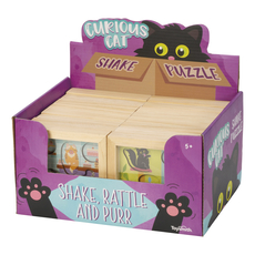 Curious Cat Shake Wood Puzzle
