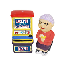 Gamblin' Granny Salt and Pepper Shaker Set