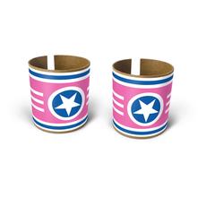 superstar bracelets pink 2pk