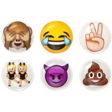 More Emoji Home Button Sticker Pack Includes 6pcs