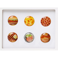 Foodie Home Button Sticker Pack Includes 6pcs