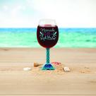 The Mermaid Tail XL Wine Glass