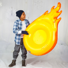 Giant Fireball Snow Tube