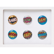 Comic Home Button Sticker Pack Includes 6pcs