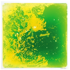 Square Gel Floor Tile - Green