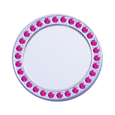 Mirror Framed in Silver w/Pink Cubic Zirconia Crystals Restickable Tech CharmIncludes 1pc