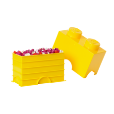 LEGO Storage Brick 2 Yellow