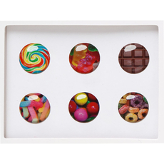 Candy Home Button Sticker Pack Includes 6pcs
