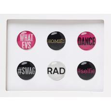 Selfie Home Button Sticker Pack Includes 6pcs