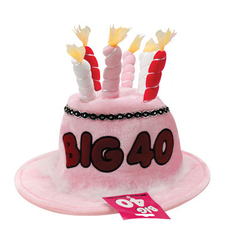 Pink Birthday Candle Hat/40