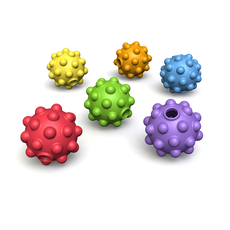Nubble Rubber Bouncy Balls (6x4- 24 pcs)