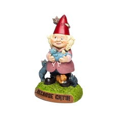 Crazy Cat Lady Garden Gnomes