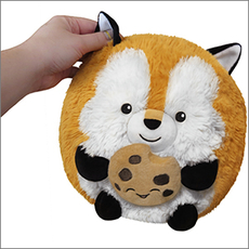 Mini Fox Holding a Cookie