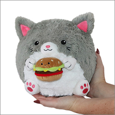 Mini Squishable Kitty with Burger