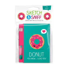 Sketch & Sniff Note Pads w/gel pen Donut