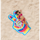 Gigantic Peace Sign Beach Blanket