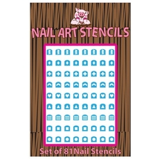 Abstract (Blue) Nail Stencils