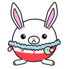 Mini Squishable White Rabbit