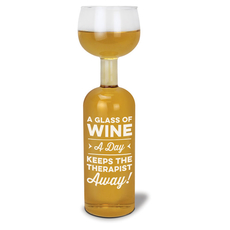 Wine Bottle Glass- Glass A Day (Therapy)