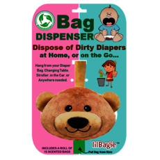lilBagie Bear Head Bag Dispenser
