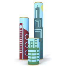 buildings set 3pk