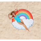 Gigantic Rainbow Beach Blanket