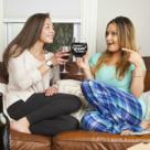 Gigantic Wine Glass- Having a Glass of Wine