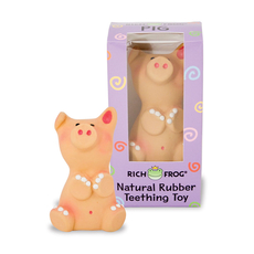 Natural Rubber Teething Toy - Pig