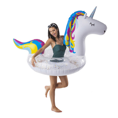 Giant Sparkly Glitter Unicorn Pool Float