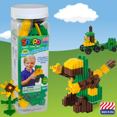 Snap and Play-Over 150 Pcs (Green/Yellow/Brown)