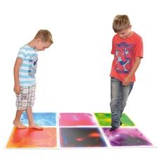 Square Gel Floor Tile - Blue