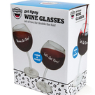 Tipsy Wine Glass 2 pc set