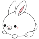 Mini Squishable Fluffy Bunny