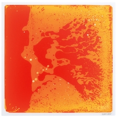 Square Gel Floor Tile - Orange