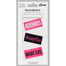 Selfie Restickable Tech Decal Pack Includes 3pcs