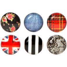 Plaid Home Button Sticker Pack Includes 6pcs