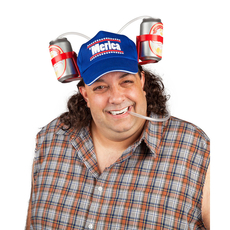 the hands free 'merica mullet DRINKING HAT