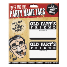Old Fart Name Badge - 20 Stickers Per Package