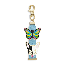 Blue Zipper Pull Set- Pooch and Mariposa