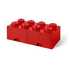 LEGO Storage Drawer 8 Red