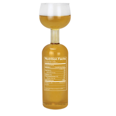 Wine Bottle Glass- Nutrition Label