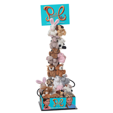 36 Ponytail Pals (12 animals x 3) w/display and bin