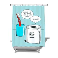 The Worst Job Shower Curtain