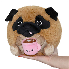 Mini Squishable Pug With Mug