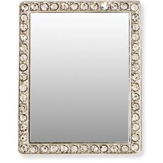 Rectangle Tech Mirror - silver/clear crystals